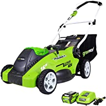 Greenworks 40V 16-Inch Cordless (2-In-1) Push Lawn Mower, 4.0Ah Battery and Charger Included 25322
