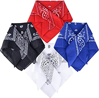 Pañuelos Bandanas de Modelo de Paisley para Cuello/Cabeza Multicolor Múltiple para Mujer y Hombre