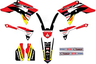 Enjoy MFG Graphics Kit & Custom Plates - Compatible Fit for 2017-2019 CRF 450 - Message Us With Your Plate Options (24MX HRC STYLE)