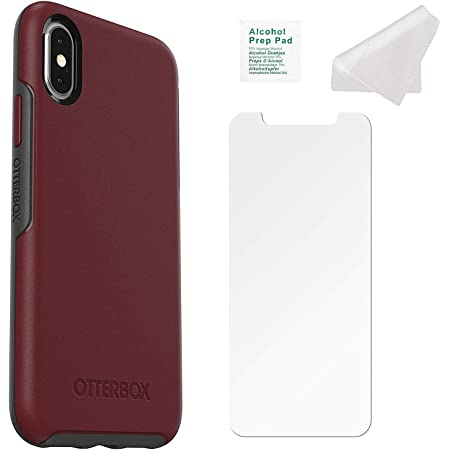 Retail Packaging ONLY OtterBox Ultra Slim Firm Flexible Case for iPhone Xs Max Wine Sangria with Tempered Glass Screen Protector