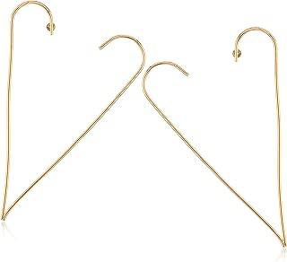 Open Heart Post Drop Earrings