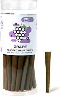Cyclones Grape Flavored Pre Rolled Hemp Wraps | 50 Pack | Natural Organic Prerolled Wraps with Packing Sticks Included for Efficiency