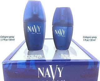 NAVY for Men By Dana 2 Piece Gift Set, Cologne Spray 1 oz & Cologne Splash 1.7 oz