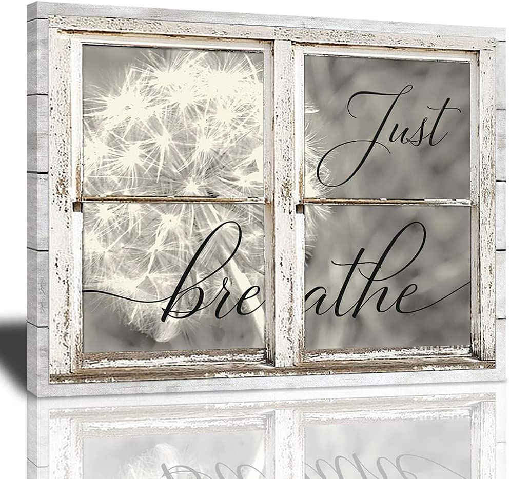 Just Ranking TOP10 Breathe Canvas Wall Art Dandelion Insp Attention brand Window Beautiful And