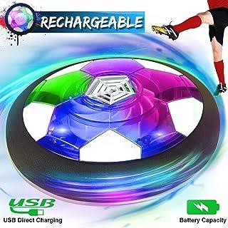 اسباب بازی های کودکان و نوجوانان ، توپ فوتبال هوایی قابل شارژ ، توپ فوتبال در فضای باز سرپوشیده با فوتبال شناور با چراغ زیبا و سپر فوم زیبا ، پسران دختران سن 2 ، 3 ، 4،5،6،7،8-16 ساله