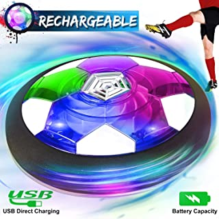 Kids Toys Hover Soccer Ball Rechargeable Air Soccer Ball, Indoor Outdoor Sport Soccer Ball Game LED Light & Foam Bumper, Xmas Holiday Toys Gift Toddler Boys Girls Age 2, 3, 4,5,6,7,8,9,10 Year Old