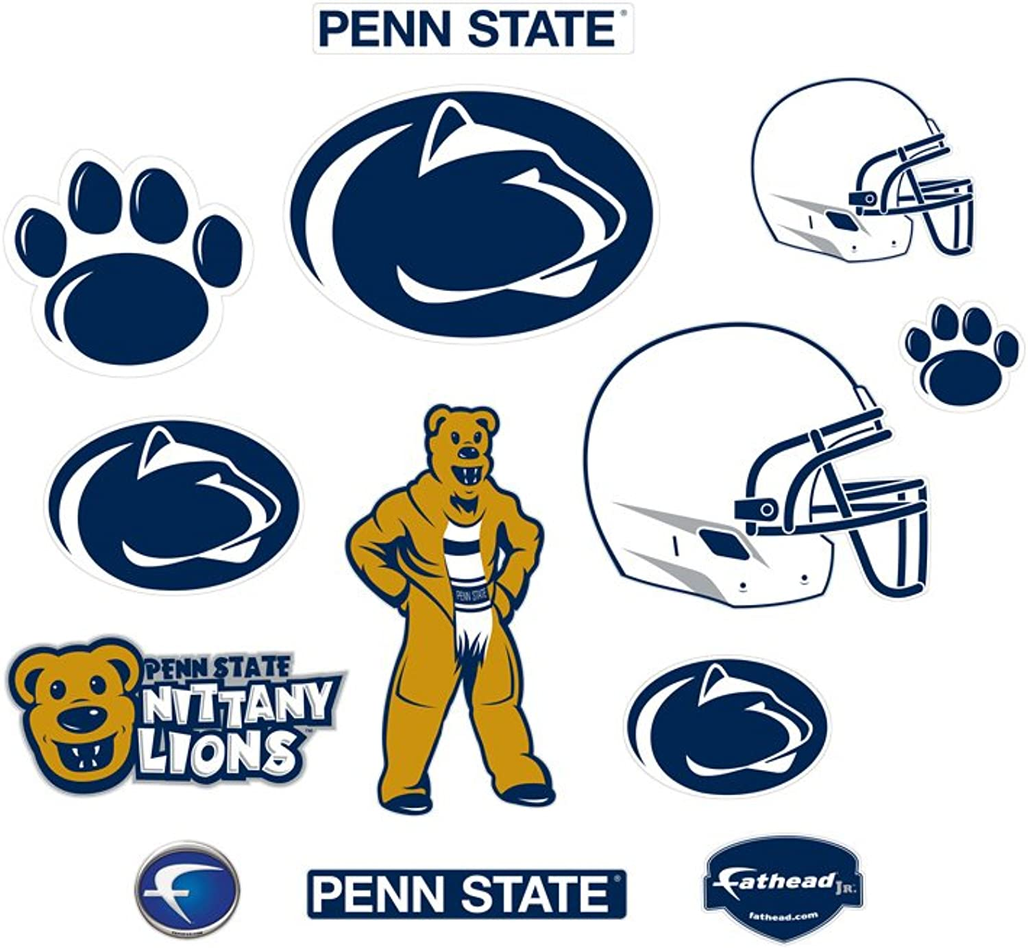 Penn State Nittany Lions Team Logo Assortment Fathead Jr. Wall Decal
