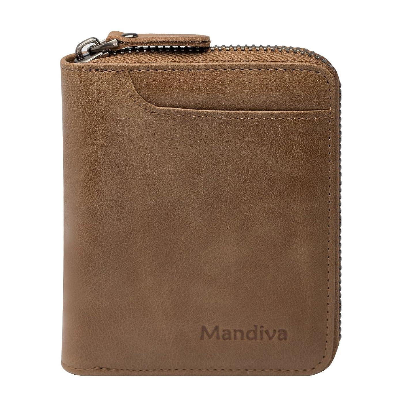 理想的強盗銅[Mandiva] 財布 本革 メンズ コンパクト