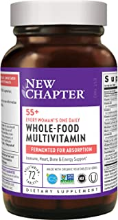 New Chapter Multivitamin for Women 50 Plus - Every Woman's One Daily 55+ with Fermented Probiotics + Whole Foods + Astaxan...