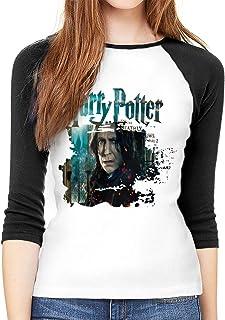 ハリーポッター Harry Potter Severus Snape レディース ロング Tシャツ らぐらん 半袖 七分袖 カットソー 無地 ラウンドネック カジュアル ファッション