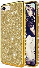 TYWZ Glitter Diamond Case voor iPhone SE 2020,Bling Rhinestone Beschermende Bumper Siliconen Plating Frame TPU Cover voor ...