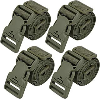 Green Magarrow 78 x 1 Nylon Strap Buckle Packing Straps Travel Accessories 1-Inch Belt 10-PCS