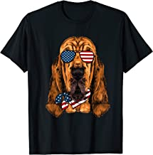 American Flag Bloodhound Patriotic 4th Of July Tshirt