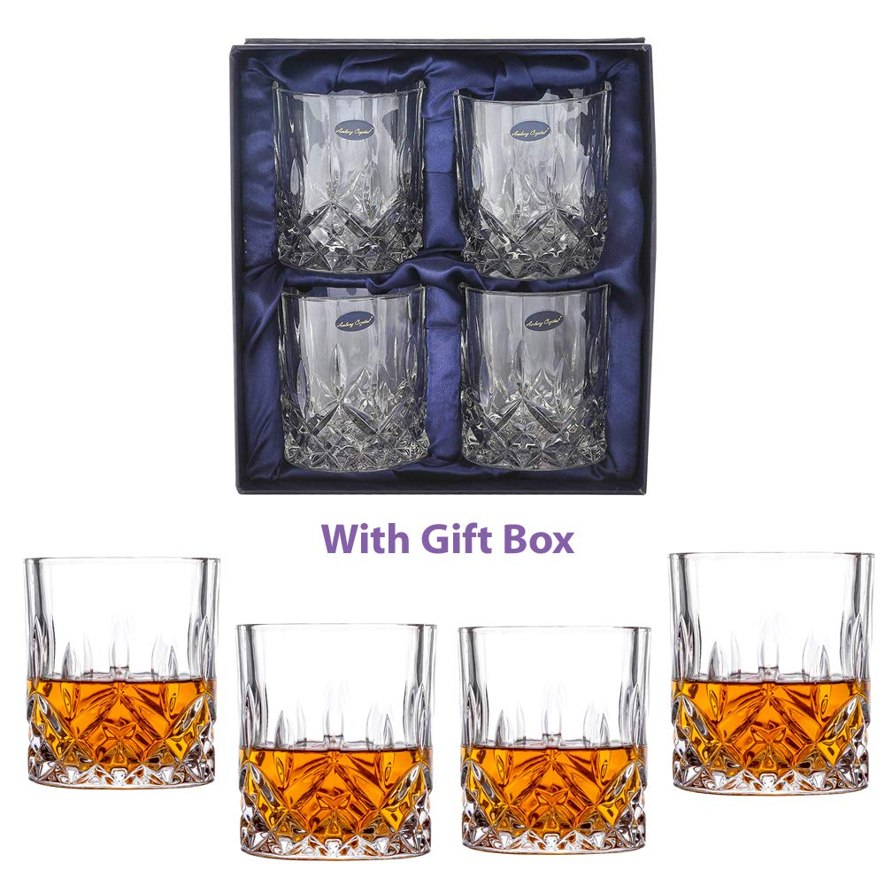 Amlong Crystal Fashioned Tumblers Drinking