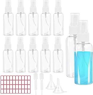 comprar comparacion 12PCS 60ml Bote Spray Pulverizador AirSMall Atomizador Spray Transparente con 2 Embudos, 2 Pipeta y 1 Etiqueta Set Botella...