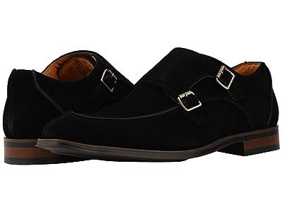 Stacy Adams Balen Double-Monk Strap Loafer (Black Suede) Men