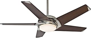 Casablanca Indoor Ceiling Fan with LED Light and wall control - Stealth 54 inch, Brushed Nickel, 59090