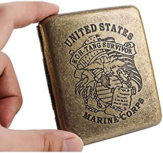 DSLE Cigarette Box, Vintage Engraving Pattern Bronze Cigarette Box, Cigarette Box Can Hold 20 Cigarettes, The Perfect Gift...