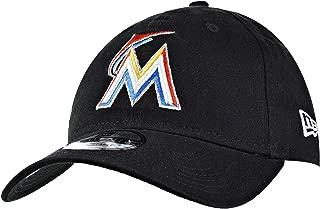 New Era Miami Marlins Core Classics 9Twenty Adjustable Cap Hat Black 11591531