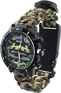 Wielofunkcyjny outdoorowy zegarek survivalowy dla mężczyzn taktyczny wojskowy termometr kompas męski zegarki nylonowe spor...