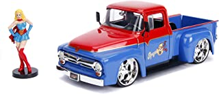 """Jada Toys DC Comics Bombshells Supergirl & 1956 Ford F100 DIE-CAST Car, 1: 24 Scale Vehicle & 2.75"""" Collectible Figurine 100% Metal"""