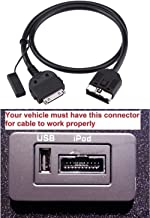 in Car Aux Cable Audio Interface for 30 Pin Connector Fit for Selected Models of Range Rover Jaguar