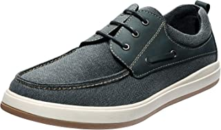 Bruno Marc Men's Canvas Boat Shoe Lace Up Fashion Casual Sneakers
