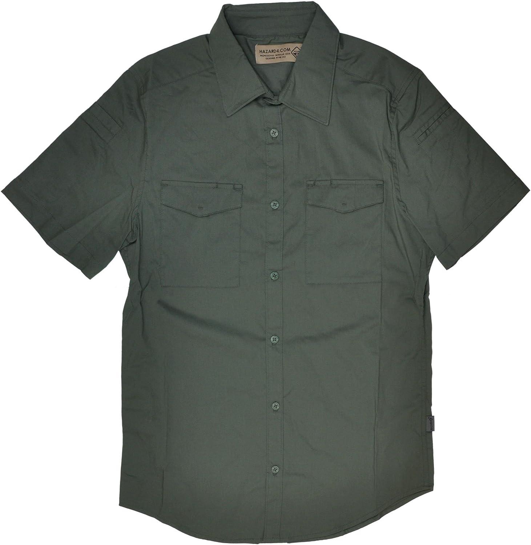 Civilian Department store Lab R Mechanic Ranking TOP3 TM Collar Work Sleeve Sh Stretch Short
