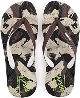 Men's Summer Flip Flops, Personalized Fashion Camouflage Massage Sandals Non-Slip Slippers Toe Post Thong Platform Wedge Beach Shoes,1,40