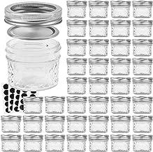 VERONES Mason Jars Canning Jars, 4 OZ Jelly Jars With Regular Lids, Ideal for Jam, Honey, Wedding Favors, Shower Favors, Baby Foods, DIY Magnetic Spice Jars, 40 PACK