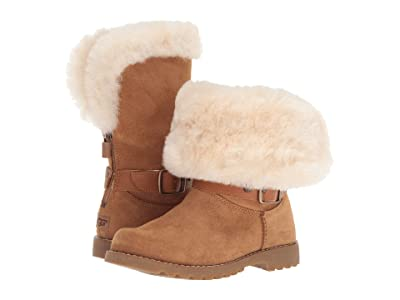 UGG Kids Nessa (Little Kid/Big Kid) (Chestnut) Girls Shoes