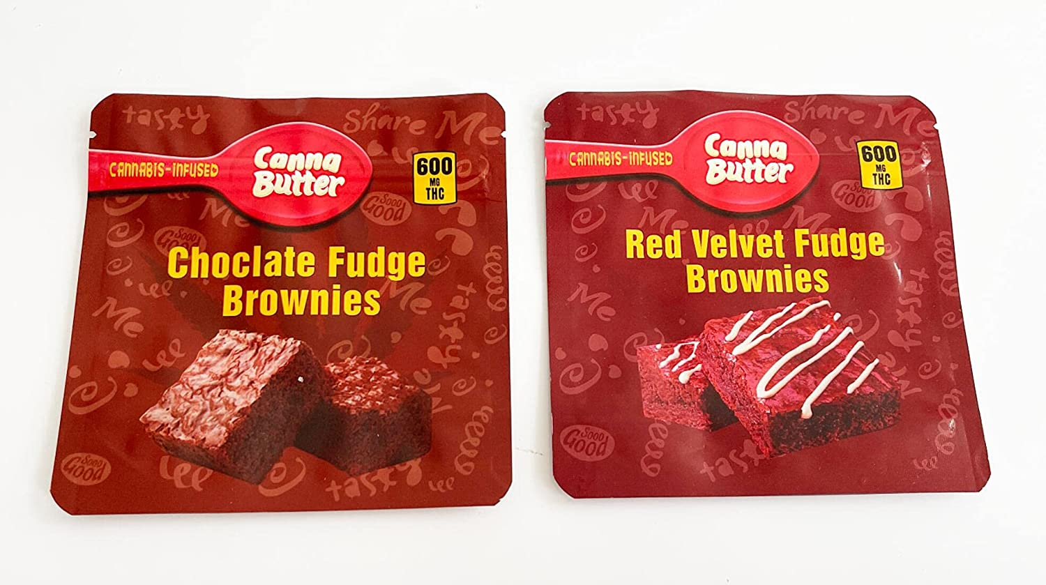 100 PCS 600mg 2 Mix Fresno Mall Canna trend rank Fudge Choclate Velvet Brown Red Butter
