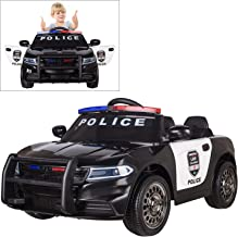 Modern-Depo Police Pursuit 12V Electric Ride On Car for Kids with 2.4G Remote Control, Siren Flashing Light, Intercom, Bumper Guard, Openable Doors