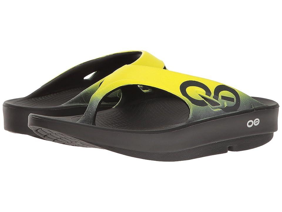 OOFOS OOriginal Sport Sandal (Black/Yellow) Sandals