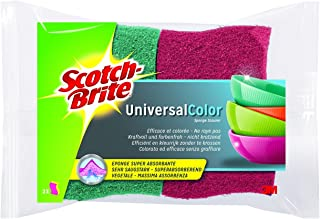 Scotch-Brite COC2Éponge cellulosique en couleur, rose vif/rose pâle et vert/vert clair, Lot de 3(3x 2Pièces)