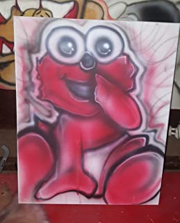 Baby Elmo Airbrushed Painting on 16 x 20 Canvas