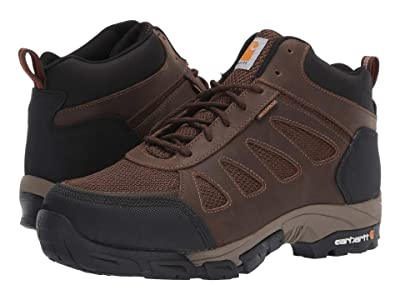Carhartt Lightweight Waterproof Work Hiker Non-Safety (Brown Leather) Men