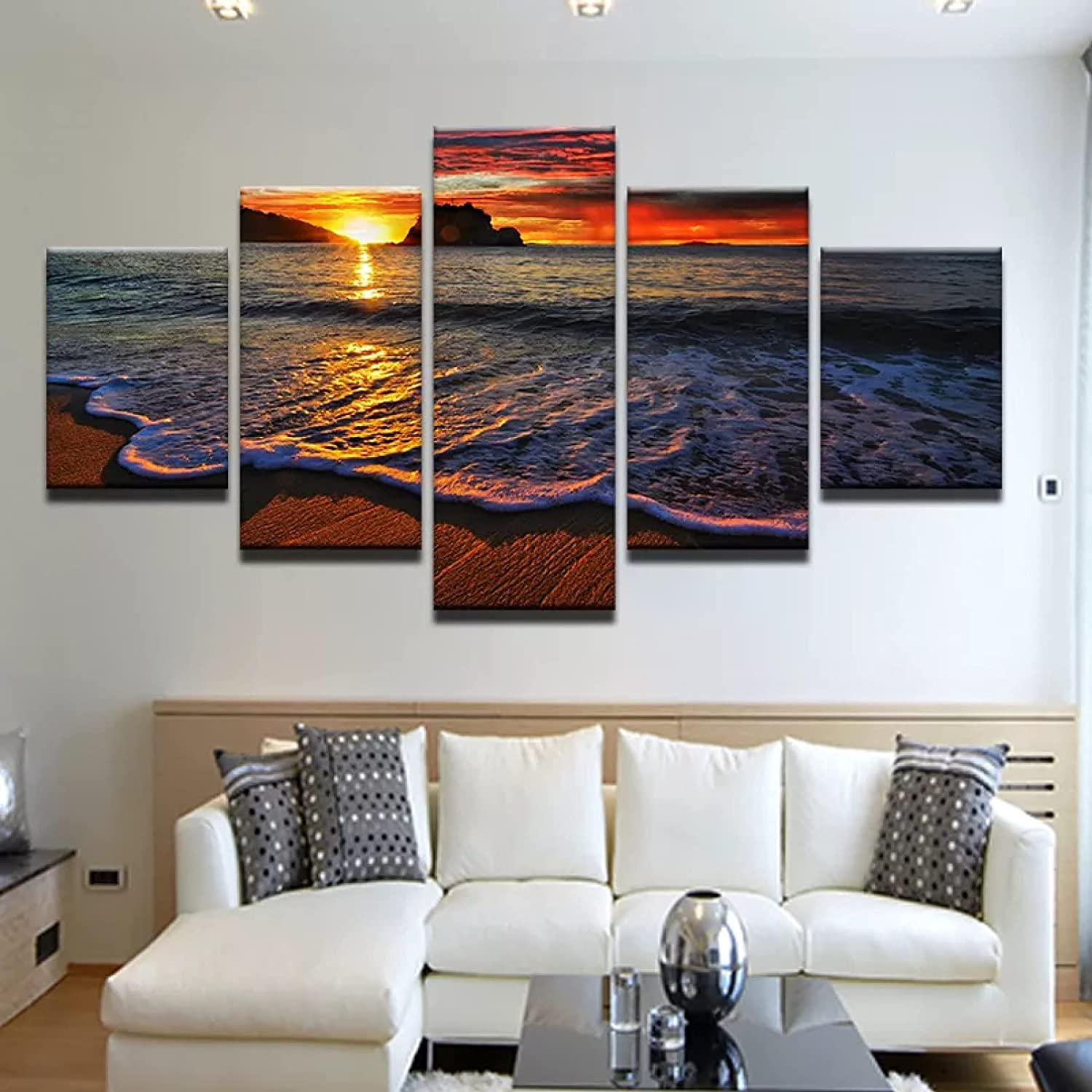 5 Even Canvas Decorative Paintings Poster Print New product! New type Clearance SALE Limited time Pic Art Seascape