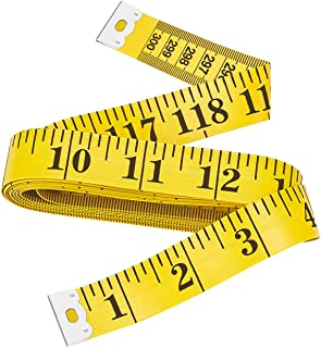 Bestty 120 inches Double Scale Soft Tape Measure Flexible Ruler for Weight Loss Medical Body Measuremen Sewing Tailor Cloth Ruler (300cm / 120inch)