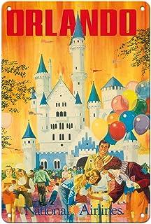 Pacifica Island Art Orlando - Florida, USA - Walt Disney World Resort - National Airlines - Vintage Airline Travel Poster ...