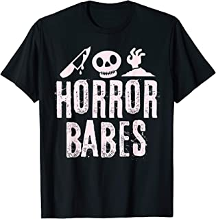 Horror Babes Funny Halloween Movie Fans Gift T-Shirt