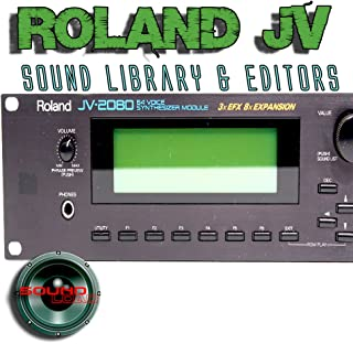 ROLAND JV-1010/1080/2080 Factory & New Created Sound Library & Editors on CD or for download