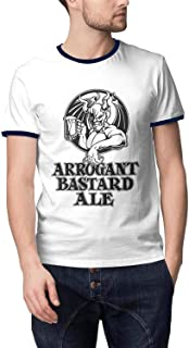ORYSJDGTS Round Collar T-Shirts Men Arrogant-Bastard-Ale-from-Stone-Brewing-Co.-Beer- Classic Tops