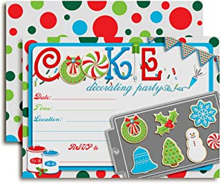 christmas decorating party invite