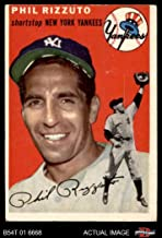 1954 Topps # 17 WHT Phil Rizzuto New York Yankees (Baseball Card) (White Back) Dean's Cards 3 - VG Yankees