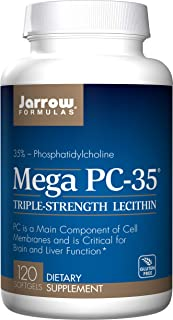 Jarrow Formulas Lecithin Mega-PC 35, Promotes Brain and Liver Function, 120 Softgels