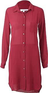 Womens Terra Shirt Dress Dark Berry 4