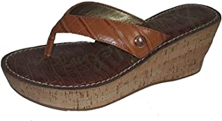 Sam Edelman Women's Romy Wedge Sandal, Saddle Croc, 4.5 M