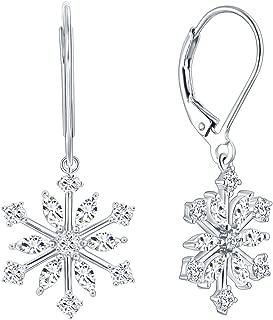 Best snowflake leverback earrings Reviews