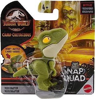 Jurassic World Camp Cretaceous Snap Squad Green Velociraptor Figure